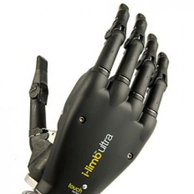 i-limb prosthetic hand in black