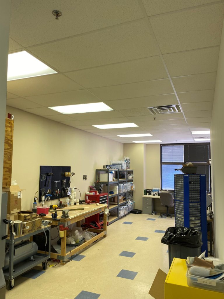 The prosthetic lab inside the Greenville, SC facility